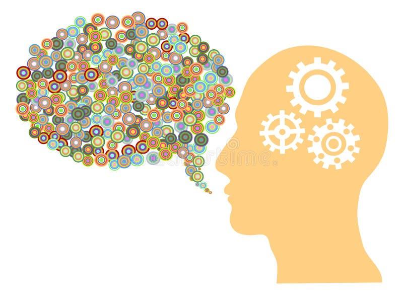 Creative speech bubble vector illustration