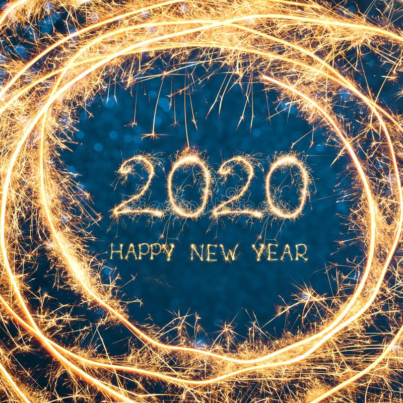 Creative Square Greeting card Happy New Year 2020 stock photos