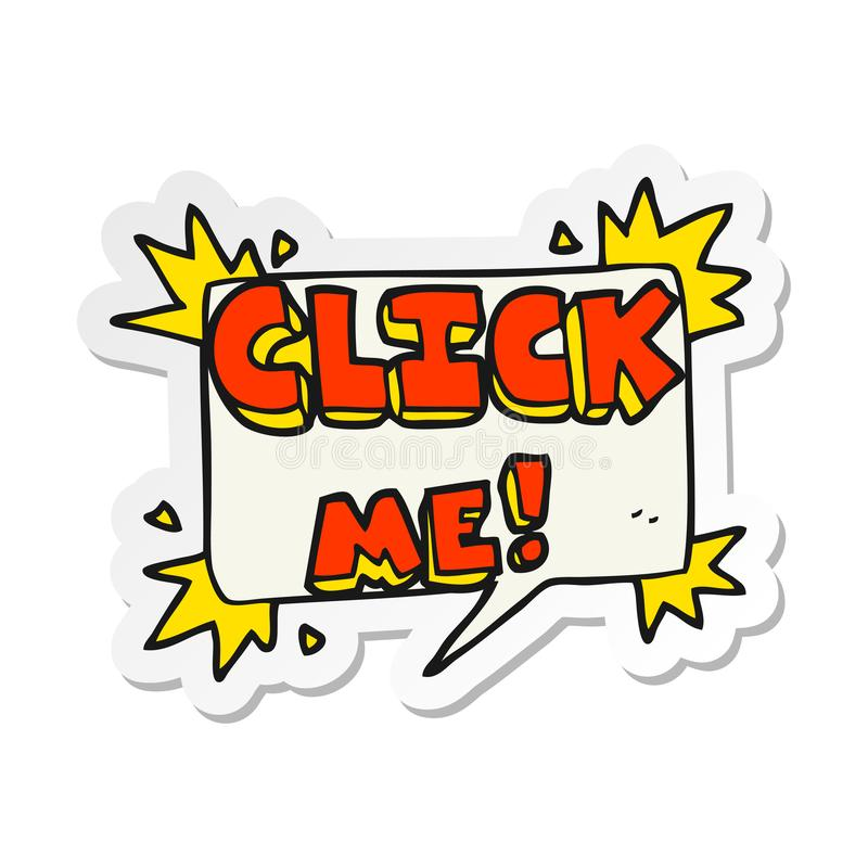 A creative sticker of a cartoon click me symbol. An original creative sticker of a cartoon click me symbol vector illustration