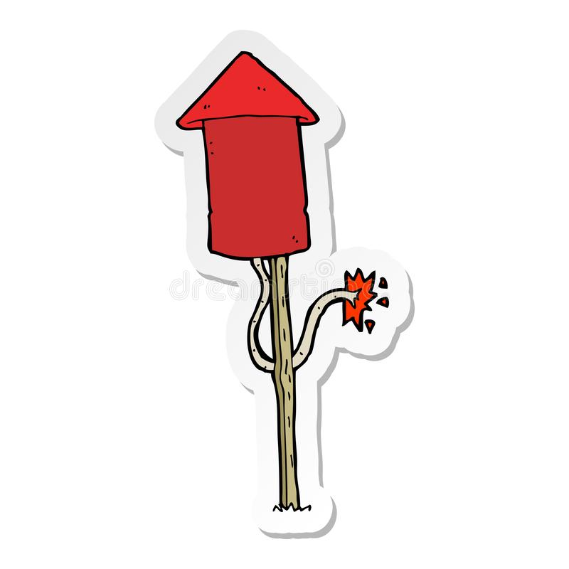 A creative sticker of a cartoon firework. An original creative sticker of a cartoon firework vector illustration