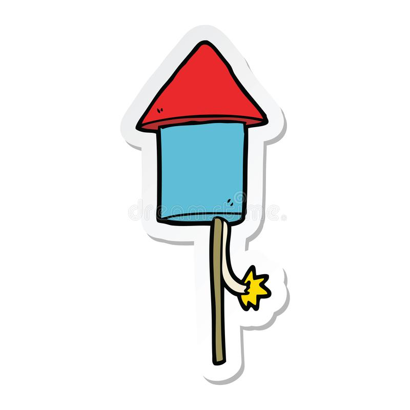 A creative sticker of a cartoon firework. An original creative sticker of a cartoon firework royalty free illustration
