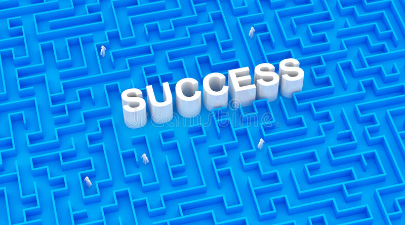 Creative success concept stock illustration