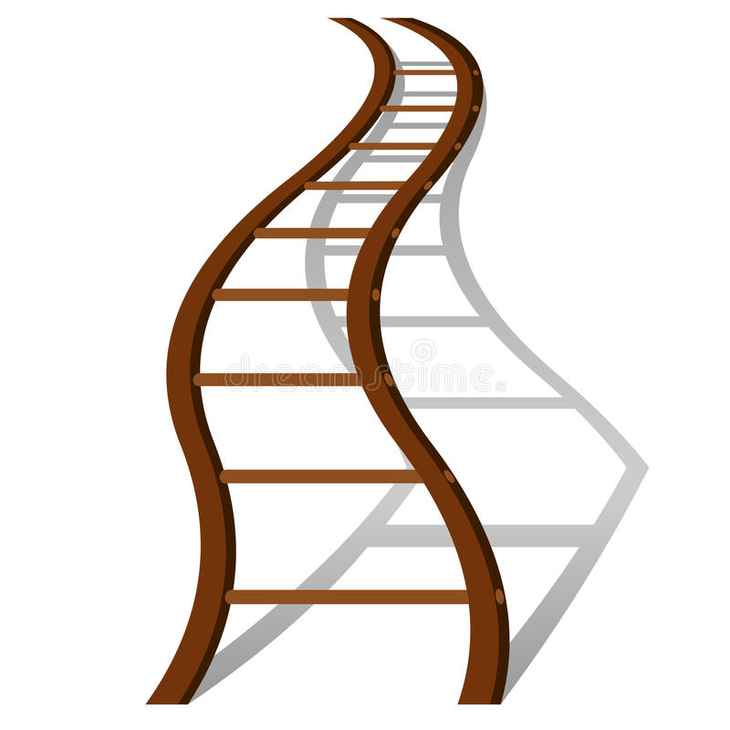 Creative success ladder concept. Metaphor of creative success in business. Vector illustration royalty free illustration