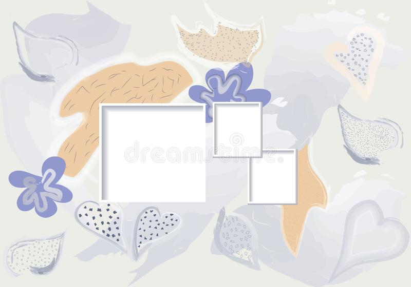 Creative surreal art header with different shapes and textures. Collage. Vector. Creative art header with different shapes and textures. Collage. Vector royalty free illustration