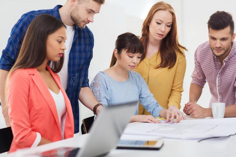 Creative team with blueprint working at office stock image image download creative team with blueprint working at office stock image image of entrepreneur asian malvernweather Gallery