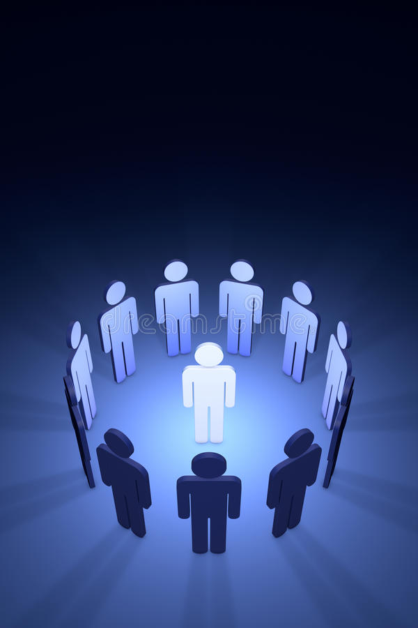 The creative team (symbolic figures of people). Standing Out from the Crowd. Available in high-resolution and several sizes to fit the needs of your project royalty free illustration