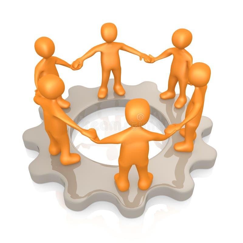 Creative Teamwork vector illustration