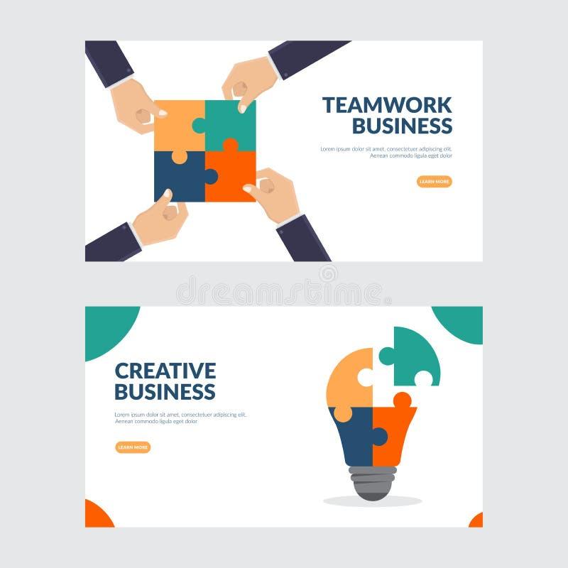 Creative and teamwork business illustration concept stock illustration