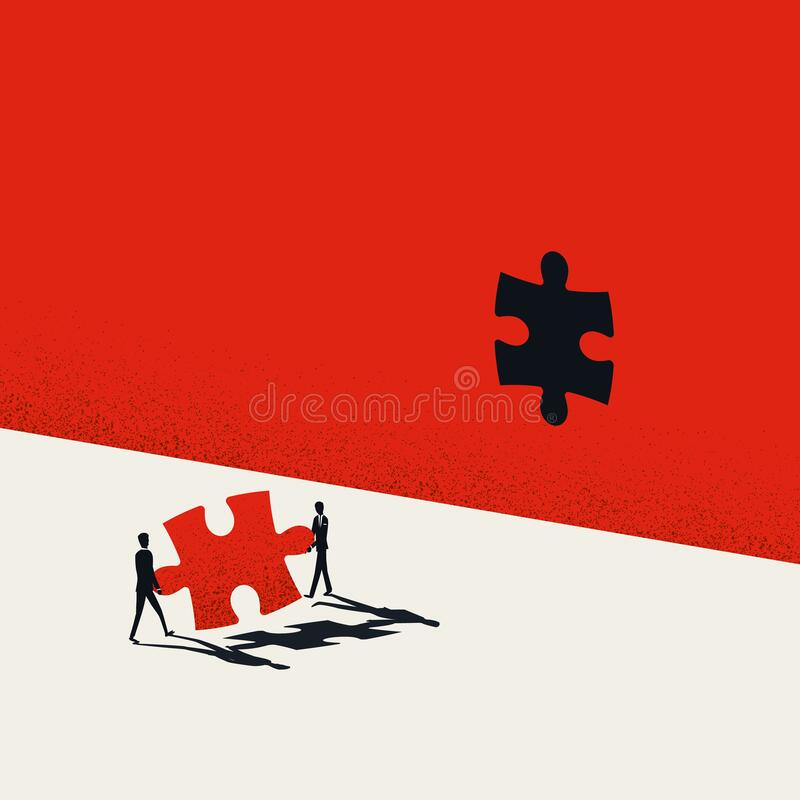 Free Creative Teamwork In Business Vector Concept. Creativity Team Cooperation, Jigsaw Puzzle Symbol Stock Photo - 200074120