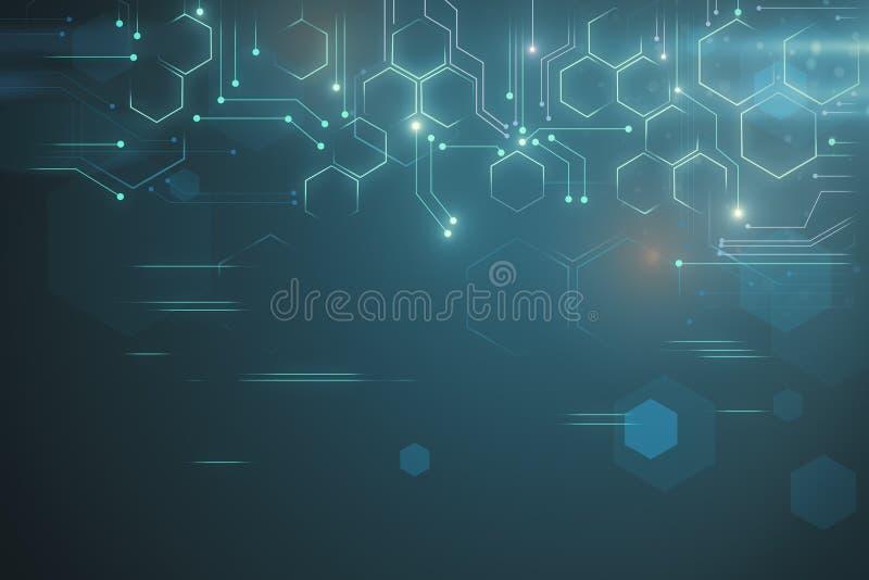Creative tech backdrop stock illustration