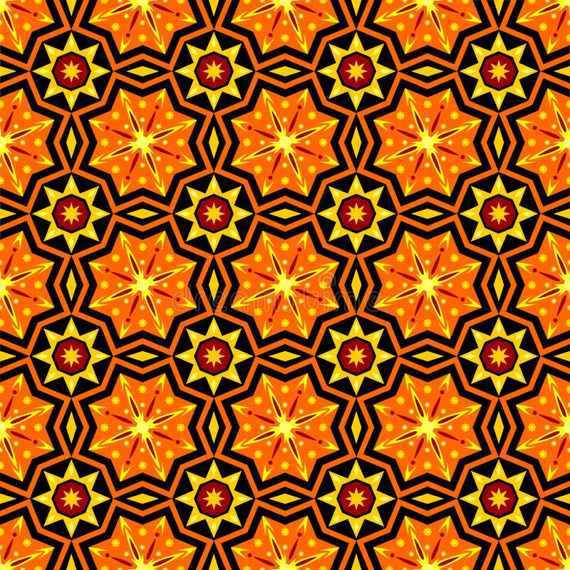 Traditional Simple Geometric Seamless Pattern Of Batik