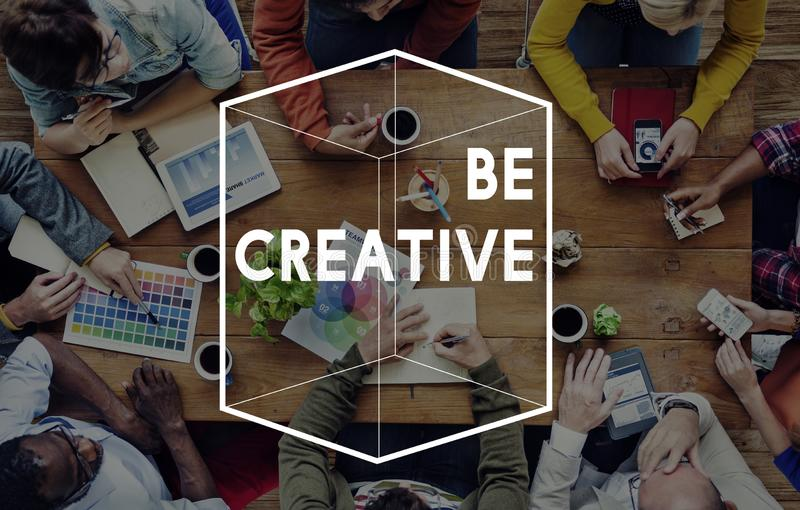Creative Thinking Different Cube Graphic Concept royalty free stock images