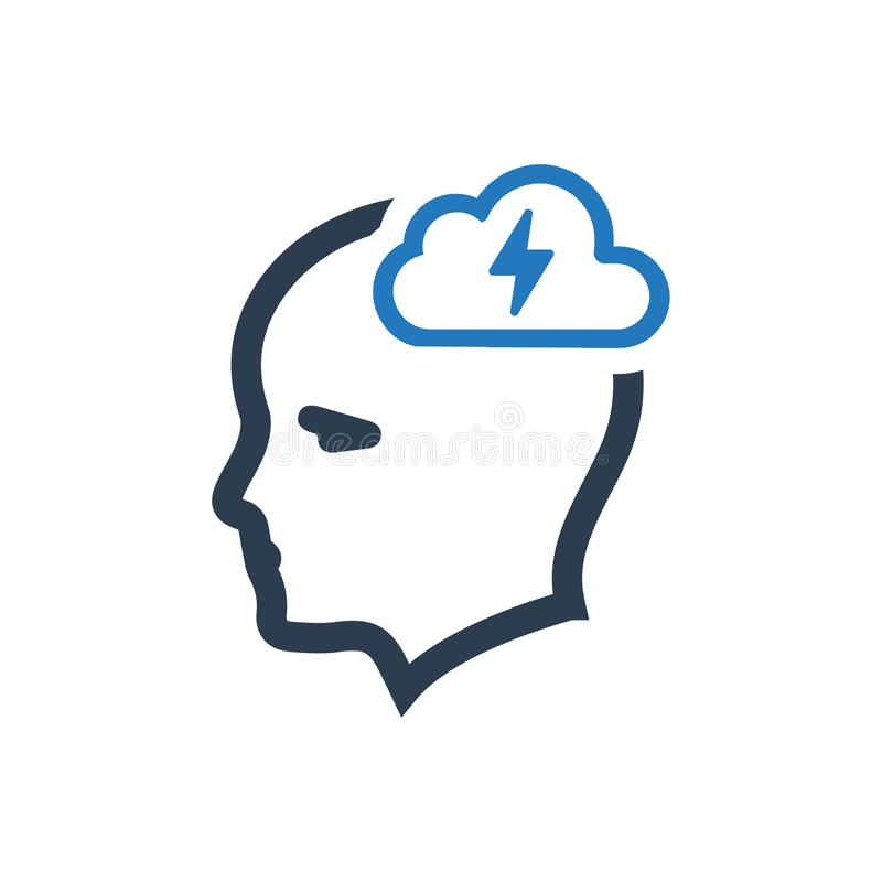 Creative Thinking Icon royalty free illustration