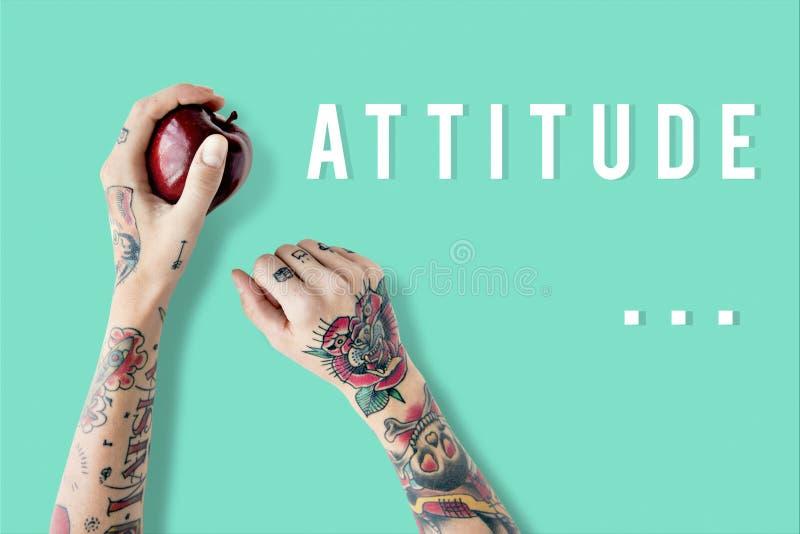 Creative Thinking Ideas Imagination Design Concept. Arms Creative Tattoo Attitude Concept royalty free stock photography