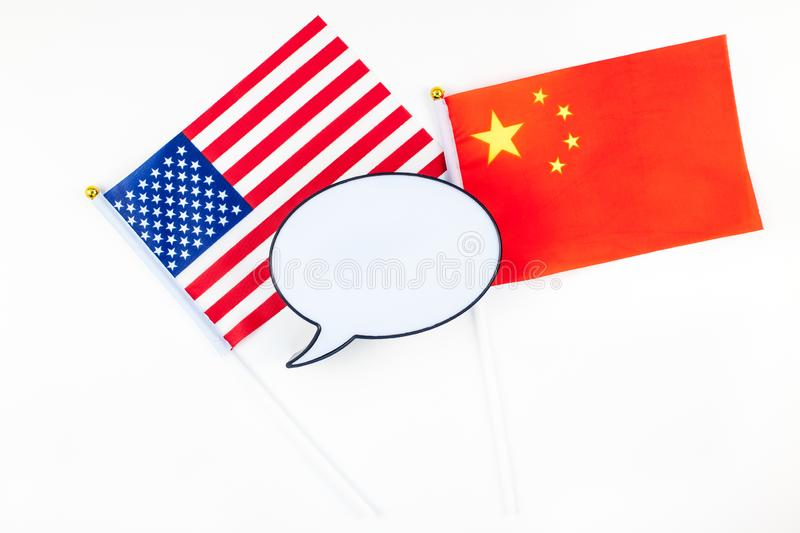 Concept of trade war between USA and China stock image
