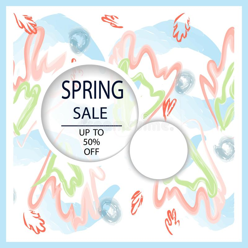 Creative Total Spring Sale headers or banners with discount offer. Art posters. Design for seasonal clearance. It can be used in vector illustration
