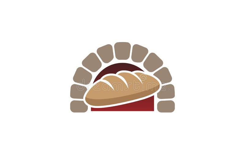 Creative Traditional Oven Bread Logo Design Symbol Vector Illustration stock illustration