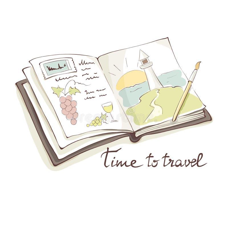 The creative travel vector illustration