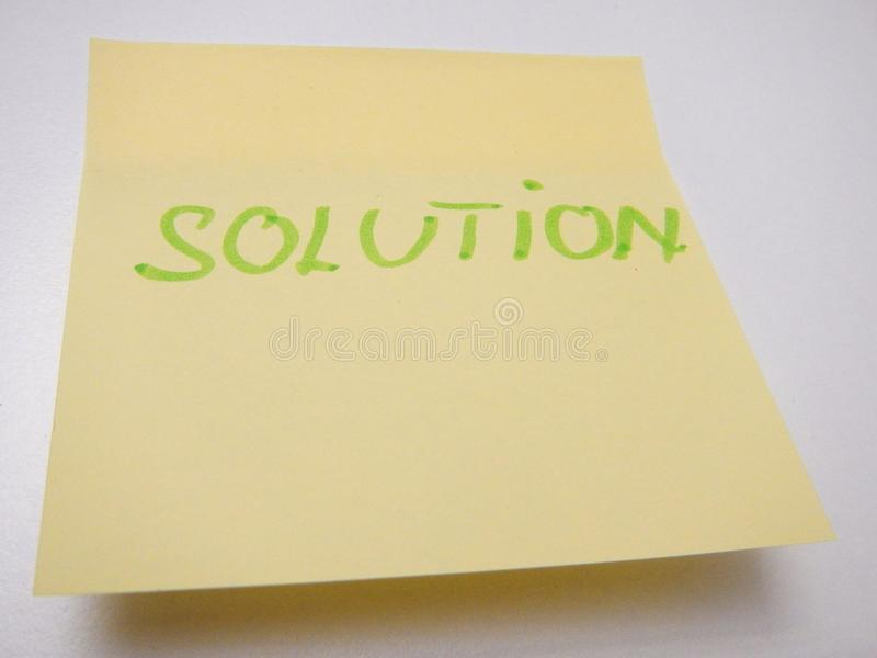 Creative using of yellow reminder stickers. A creative using of yellow reminder stickers royalty free stock photography
