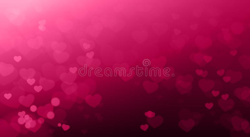 Creative Valentines Day Backgruond Blurred Hearts Bokeh Beautiful Elegant vector illustration
