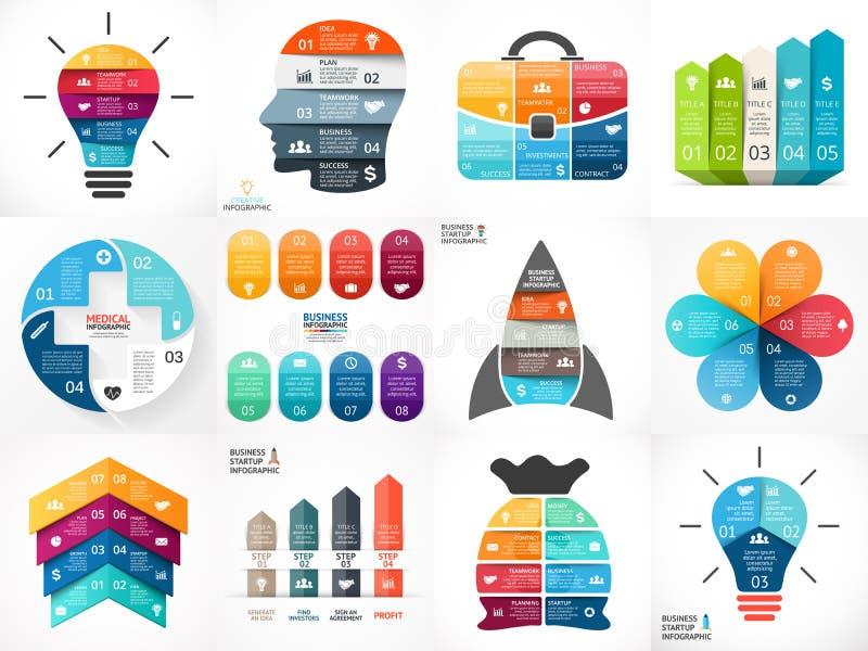 Creative vector arrows infographics, diagrams stock illustration