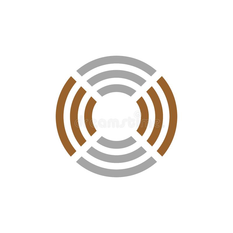 Creative vector circle logo design illustration geometrical shape. Creative vector logo design illustration simple minimal circle flat unique modern geometrical stock illustration