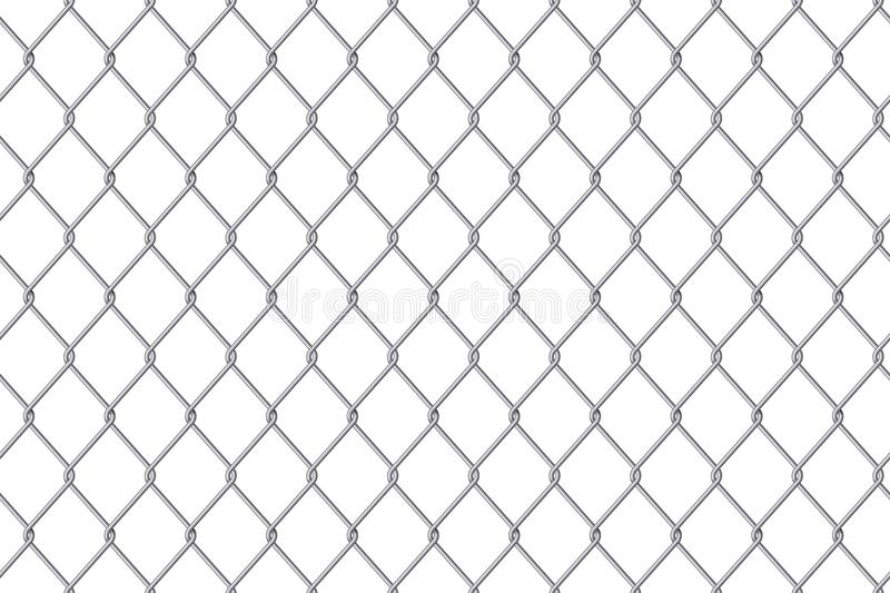Creative vector illustration of chain link fence wire mesh steel metal isolated on transparent background. Art design gate made. P. Rison barrier, secured vector illustration