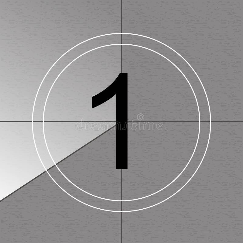 Creative vector illustration of countdown frame. Art design. Old film movie timer count. Vintage retro cinema. Abstract concept gr royalty free illustration
