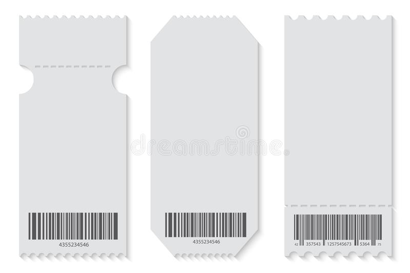 blank shapes of tickets set isolated from background ticket ...