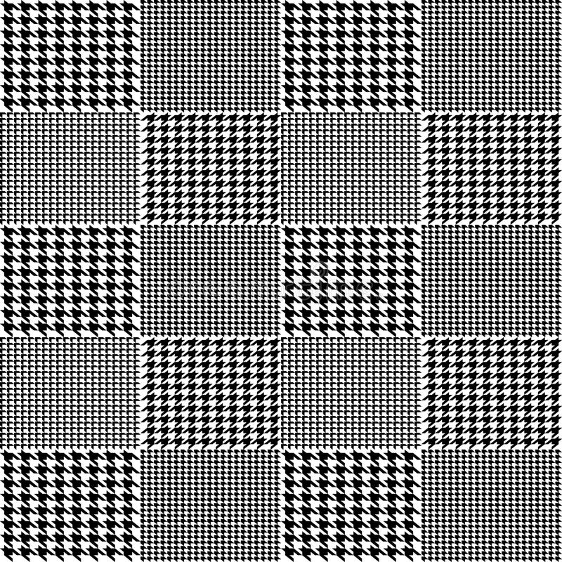 Creative vector illustration of fabric houndstooth seamless vector pattern background. Geometric print hounds tooth art design. Ab vector illustration