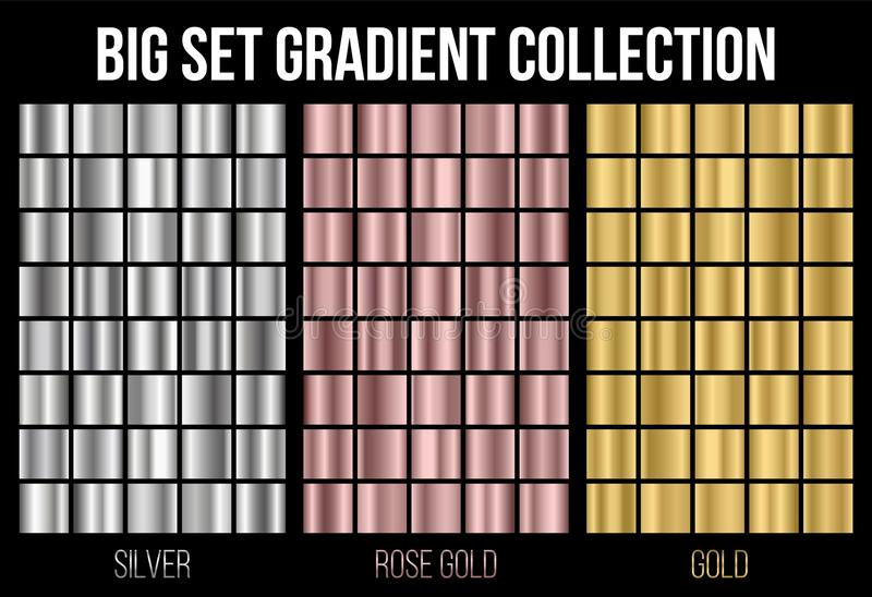 Creative vector illustration of gradient collection. Art design background texture. Abstract concept graphic element vector illustration