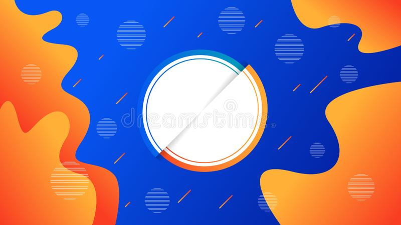 Creative vector illustration of liquid gradient. Trendy dynamic background vector illustration