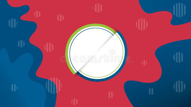 Creative vector illustration of liquid gradient. Fluid and stripes shapes geometric composition stock illustration
