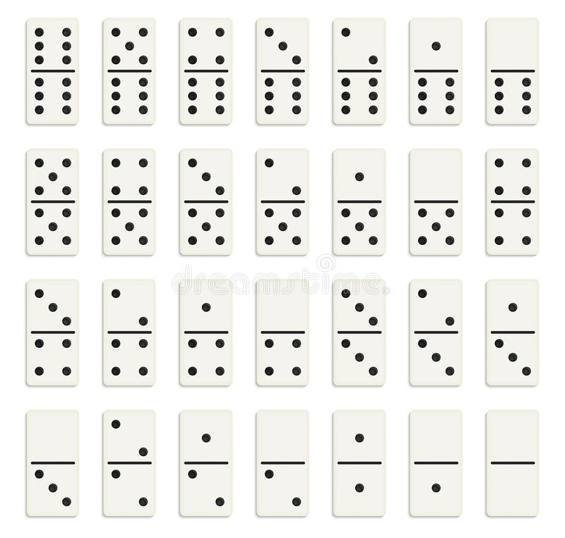 Free Creative Vector Illustration Of Realistic Domino Full Set Isolated On Transparent Background. Dominoes Bones Art Design. Abstract Stock Image - 109211061
