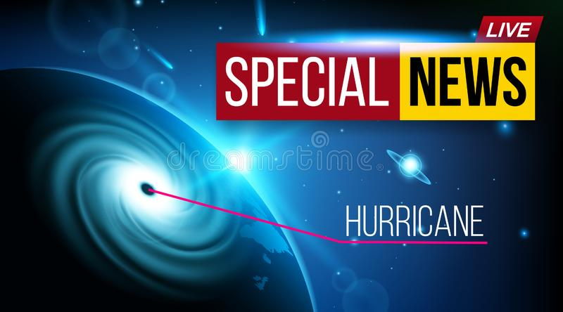 Creative vector illustration of realistic hurricane cyclone wind, tropical typhoon spiral storm, spin vortex isolated on. Transparent background. Art design stock illustration