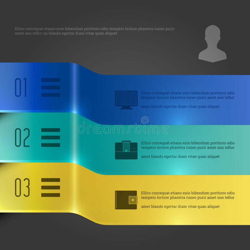 Business Infographics Design Template. Vector Elements. 3D Banners Diagram Illustration. EPS10. Business Infographics Design Template. Vector Elements. 3D royalty free illustration