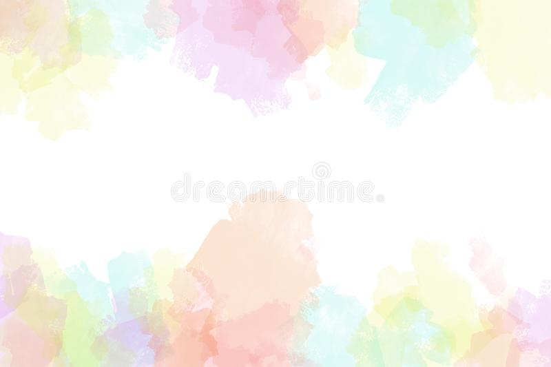 Creative vibrant grunge watercolor background vector illustration