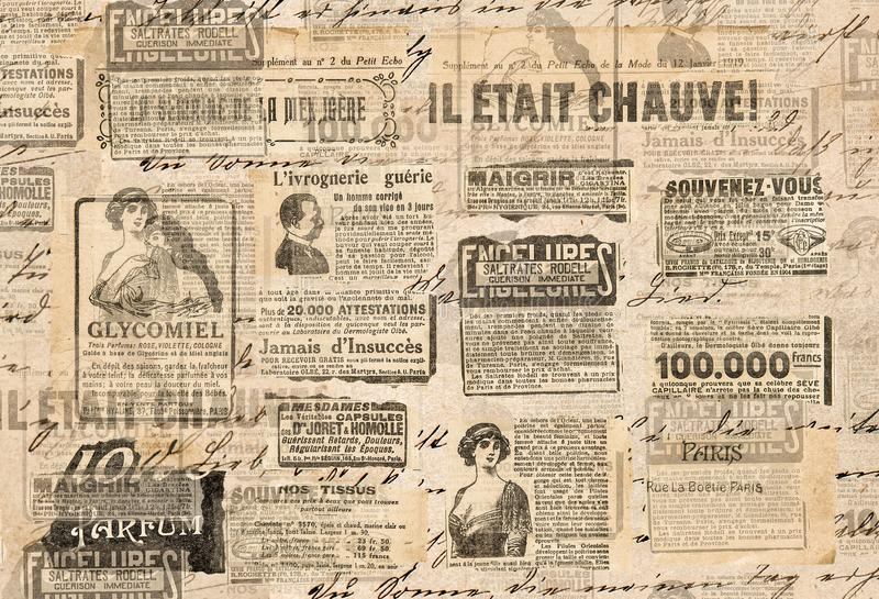 Creative vintage background Paper texture Newspaper strips stock image