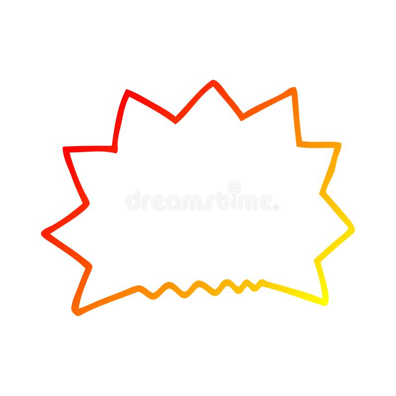 A creative warm gradient line drawing cartoon big  bang explosion vector illustration