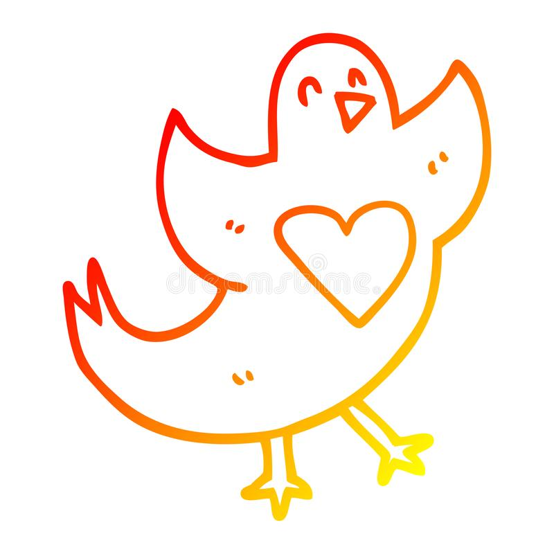 Love Heart Chest Bird Animals Cartoon Warm Line Gradient Spectrum Doodle Drawing Simple Art Illustration Hand Drawn Scribble Funny Crazy Stock Illustrations 2 Love Heart Chest Bird Animals Cartoon Warm Line