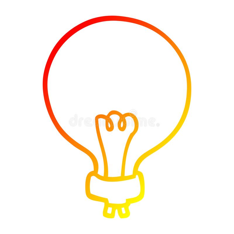 A Creative Warm Gradient Line Drawing Cartoon Light Bulb Stock Vector Illustration Of Scribble Bulb 151829663