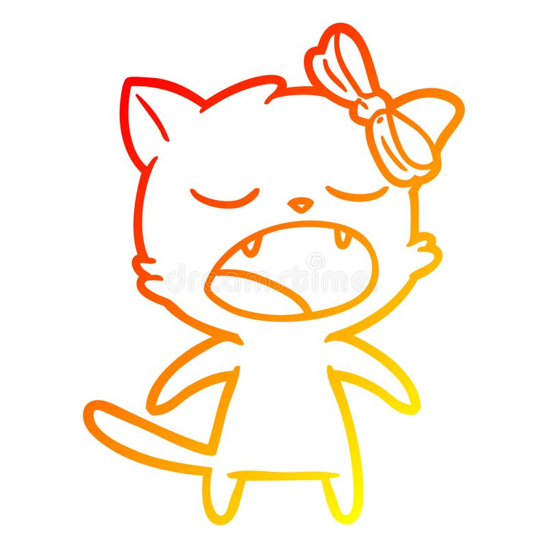 Singing Meowing Yawning Cat Animals Female Pet Bow Talking Singing Speaking Loud Cute Cartoon Warm Line Gradient Spectrum Drawing Illustration Retro Doodle Freehand Free Hand Drawn Quirky Art Artwork Funny Character Stock,Patty Pan Squash