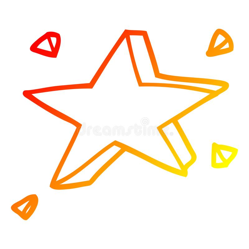 A creative warm gradient line drawing cartoon yellow stars. An original creative warm gradient line drawing cartoon yellow stars royalty free illustration