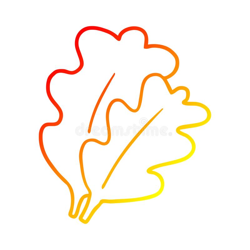 A creative warm gradient line drawing fall leaves cartoon. An original creative warm gradient line drawing fall leaves cartoon stock illustration