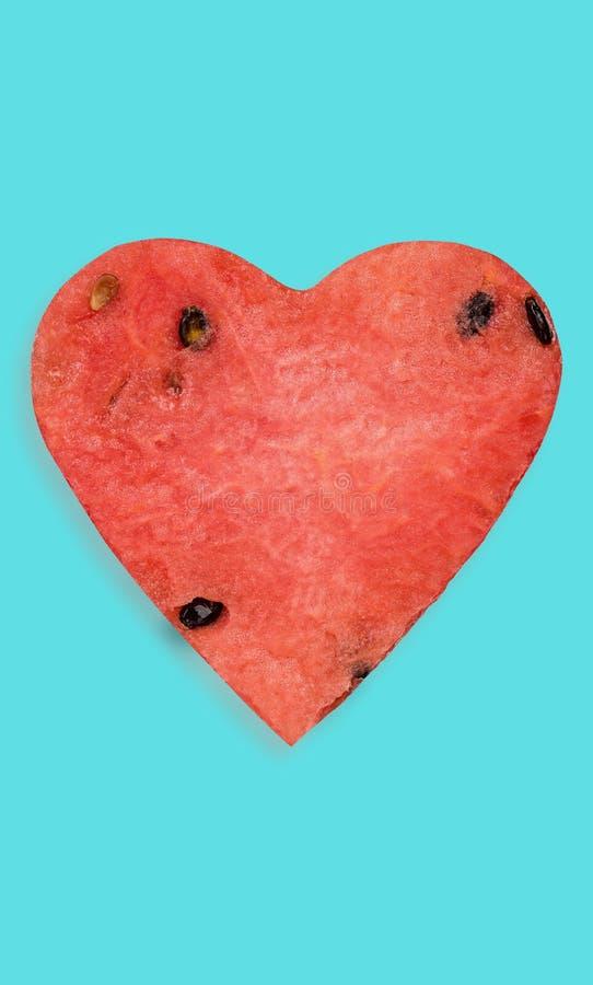 Creative watermelon hearh shape stock image