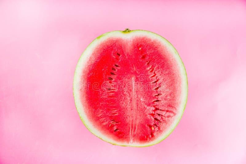 Creative watermelon layout stock photos