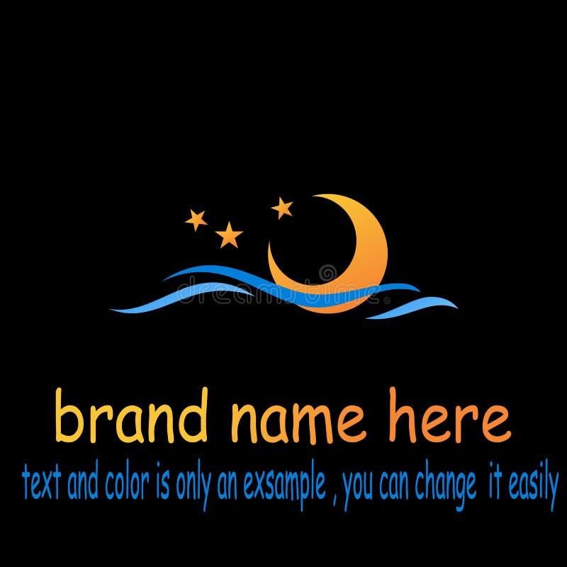 Creative wave star logo vector stock illustration