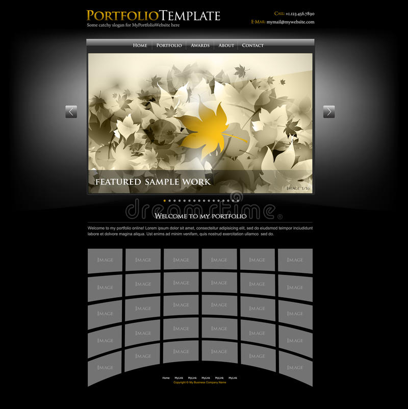 Creative Website Portfolio Template - Editable Royalty Free Stock Photography