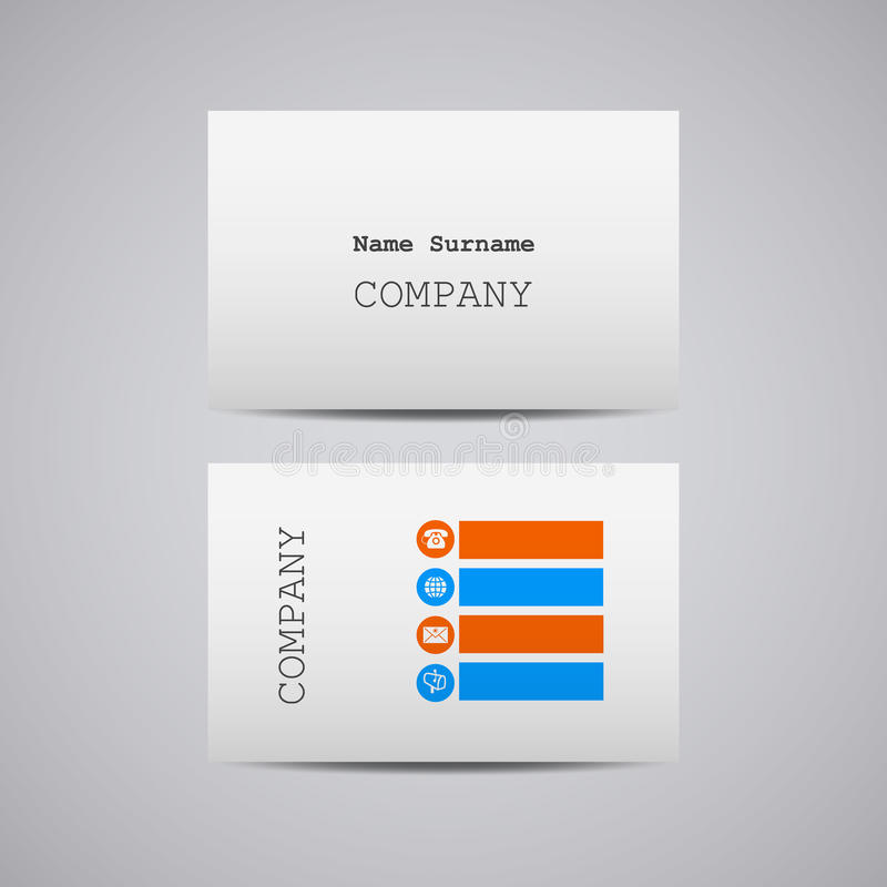 Creative White Cardboard Paper Business Card Stock Vector ...