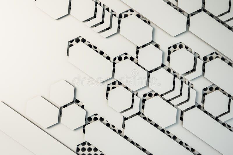 Creative white mosaic wallpaper royalty free illustration